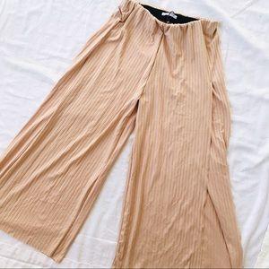 Zara Trafuluc High Waist Goucho boho slit pants